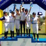 Scuola equitazione Kappa Equestre podio premiazione