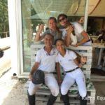 Scuola equitazione Kappa Equestre Stefano Bellantonio con alcuni soci