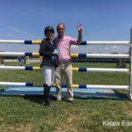 Scuola equitazione Kappa Equestre Stefano Bellantonio con vincitrice gara