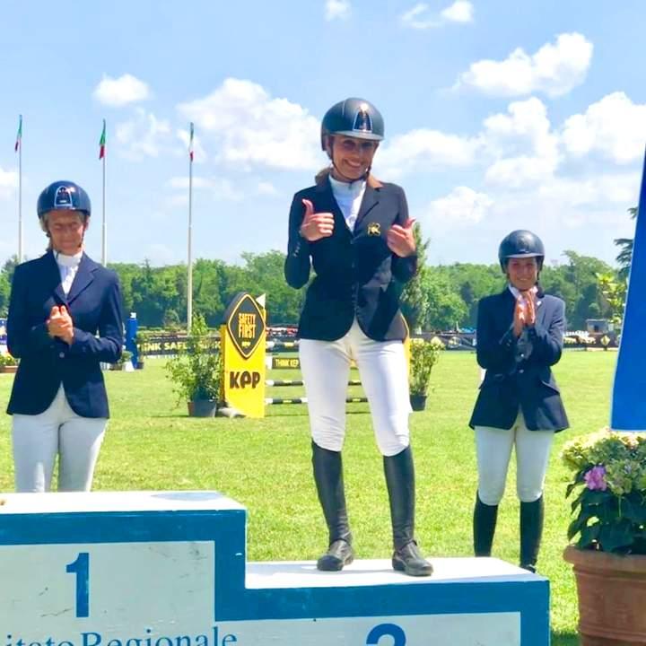 Vincitori della gara di equitazione 2019 al maneggio Kappa Equestre di Roma