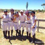 Scuola equitazione Kappa Equestre soci nel maneggio all'aperto