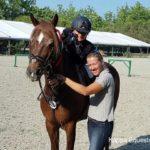 Scuola equitazione Kappa Equestre bambino con istruttore